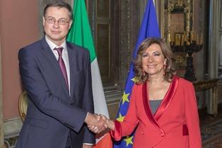 SENATO: LA PRESIDENTE CASELLATI INCONTRA IL COMMISSARIO UE DOMBROVSKIS