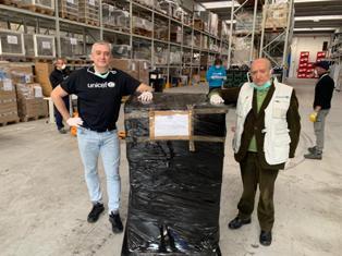 CORONAVIRUS: ARRIVATI I PRIMI AIUTI UNICEF PER L'ITALIA