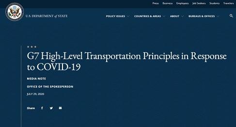 G7: PRINCIPI DI ALTO LIVELLO IN MATERIA DI TRASPORTI