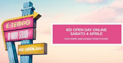 STAY HOME AND DESIGN YOUR FUTURE! SABATO 1° OPEN DAY ONLINE DELLO IED