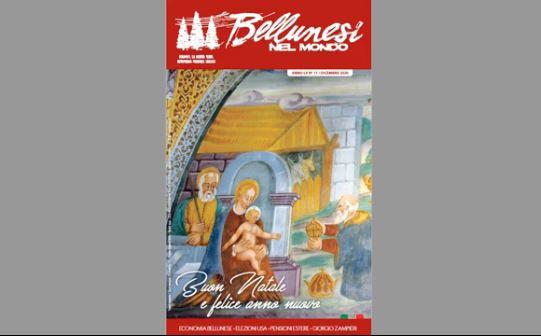"""""""Bellunesi nel Mondo"""": uscito il numero di dicembre della rivista"""
