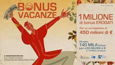TURISMO/ FRANCESCHINI: SUPERATO IL MILIONE DI BONUS VACANZE EROGATI