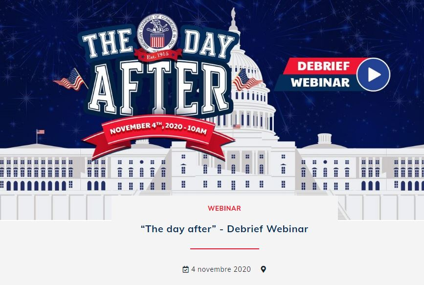 """THE DAY AFTER"": WEBINAR SULLE ELEZIONI AMERICANE DI AMCHAM ITALY"