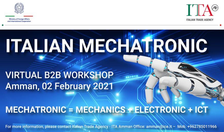 Italia-Giordania-Palestina: incontro fra operatori della meccatronica al Workshop dell'Agenzia Ice