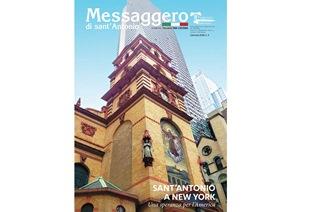 """SANT'ANTONIO E IL CUORE FRANCESCANO DELLA GRANDE MELA SUL """"MESSAGGERO DI SANT'ANTONIO"""" PER L'ESTERO DI GENNAIO"""