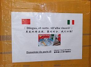 IN ARRIVO A TORINO LE MASCHERINE E I GUANTI DONO DEGLI ALUMNI POLITO IN CINA