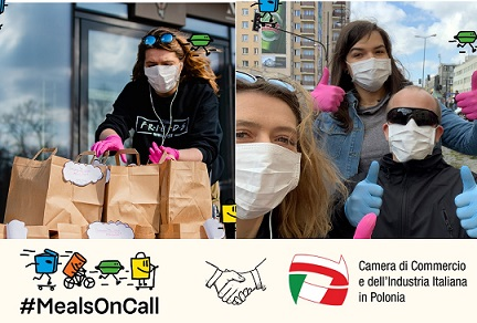 #MEALSONCALL: IN POLONIA RISTORANTI E AZIENDE DONANO OLTRE 44.353 PASTI AL PERSONALE SANITARIO/ LA CCI PARTNER DELL'INIZIATIVA