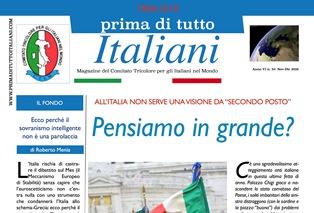 """PENSIAMO IN GRANDE? ONLINE IL NUOVO NUMERO DI """"PRIMA DI TUTTO ITALIANI"""""""