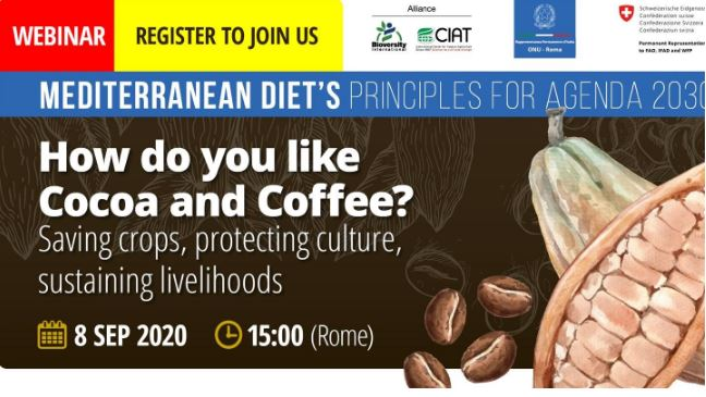 CAFFÈ E CACAO: A ROMA WEBINAR PER SALVARE DUE COLTURE MINACCIATE