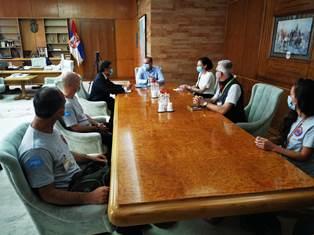 SERBIA: IL TEAM SANITARIO DELLA PROTEZIONE CIVILE ITALIANA INCONTRA IL MINISTRO DELLA SALUTE LONCAR