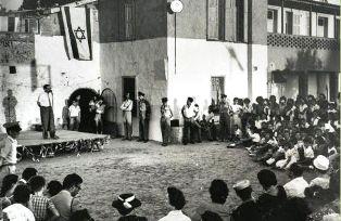 L'AMBASCIATORE BENEDETTI (ISRAELE) ALL'INAUGURAZIONE DELLA MOSTRA PER I 60 ANNI DEL BEIT WIZO ITALIA DI YAFO