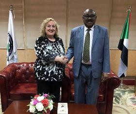 VISITA DELLA VICE MINISTRA DEL RE IN SUDAN