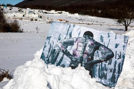 Rotta balcanica: la Street Artist Laika in Bosnia a sostegno dei migranti