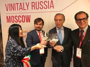 VINITALY RUSSIA: L'ITALIA SI CONFERMA LEADER DI MERCATO NELL'EXPORT DI VINO A MOSCA