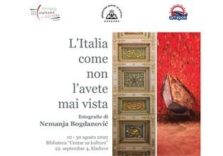 """""""L'ITALIA COME NON L'AVETE MAI VISTA"""": LE FOTO DI NEMANJA BOGDANOVIC DA DOMANI IN MOSTRA A KLADOVO"""