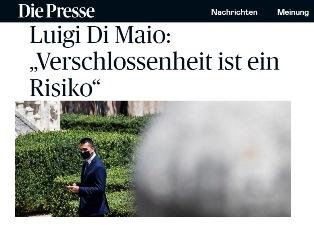 """ITALIA – AUSTRIA: L'INTERVISTA DEL MINISTRO DI MAIO A """"DIE PRESSE"""""""