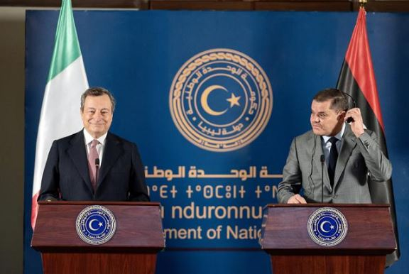 Draghi a Tripoli incontra il premier Dabaiba