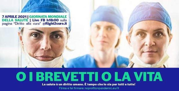 """""""O i brevetti o la vita"""": domani il click day dell'Associazione """"No Profit on Pandemic"""""""