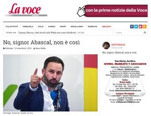 NO, SIGNOR ABASCAL, NON È COSÌ – di Mauro Bafile