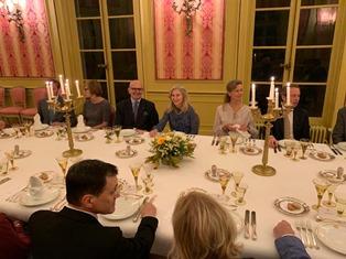 BRUXELLES: CENA DI BENVENUTO DELL'AMBASCIATRICE BASILE AL NUOVO DIRETTORE DELL'IIC SABBATINI