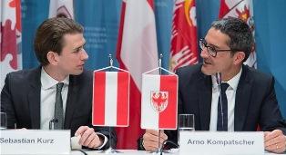 AUSTRIA: GLI AUGURI DI KOMPATSCHER (ALTO ADIGE) AL NUOVO GOVERNO