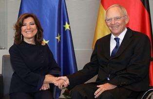 CASELLATI A BERLINO: L'INCONTRO CON IL PRESIDENTE DEL BUNDESTAG SCHÄUBLE