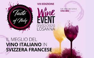TASTE OF ITALY WINE: A LOSANNA L'8ª EDIZIONE CON LA CCIS