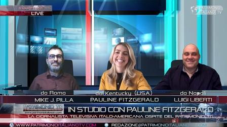 La giornalista italo-americana Pauline Fitzgerald ospite a Patrimonio Tg