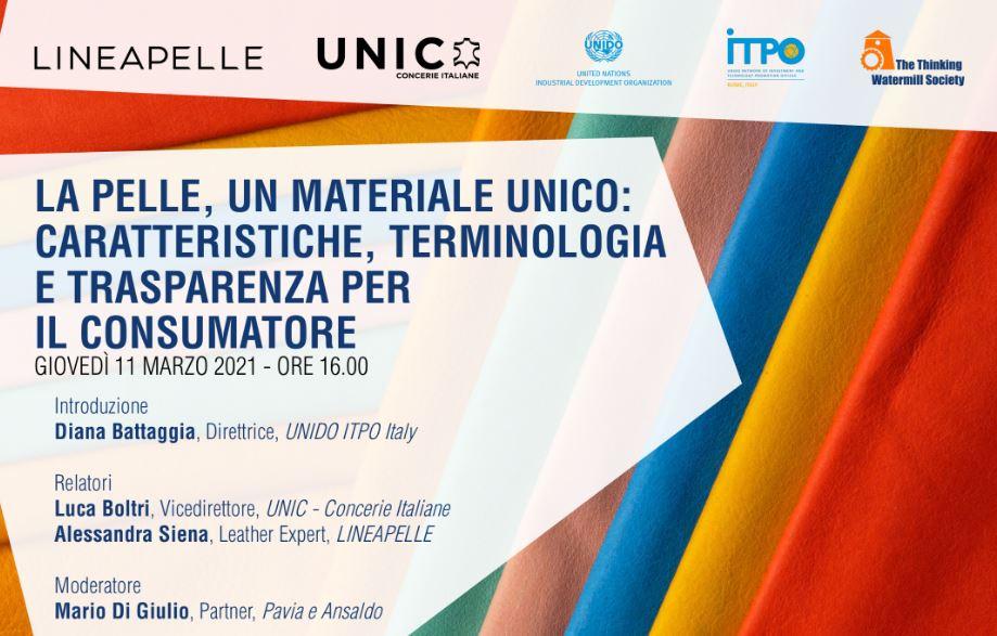"""""""La pelle, un materiale unico"""": giovedì il webinar di UNIDO ITPO Italy"""