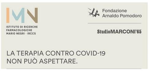 CORONAVIRUS: FONDAZIONE POMODORO E STUDIO MARCONI '65 AVVIANO RACCOLTA FONDI PER LA RICERCA