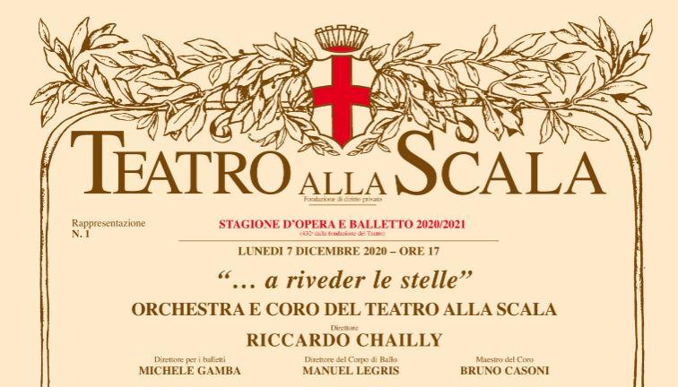 """""""A riveder le stelle"""": su Rai Italia la prima del Teatro alla Scala"""
