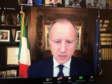 SCENARI POST COVID: L'AMBASCIATORE VARRICCHIO AL DIBATTITO DELL