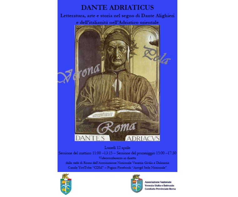 """""""Dante Adriaticus"""": lunedì la teleconferenza dell'ANVGD"""