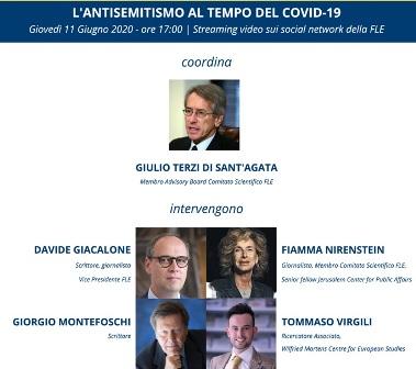 """""""L'ANTISEMITISMO AL TEMPO DEL COVID-19"""": GIOVEDÌ IL DIBATTITO DELLA FONDAZIONE EINAUDI"""