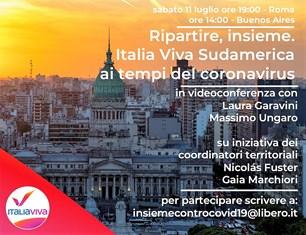 ITALIA VIVA NEL MONDO: SABATO INCONTRO CON I COMITATI DEL SUD AMERICA