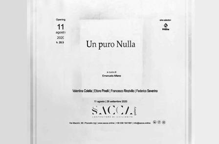 """""""UN PURO NULLA"""": MARTEDÌ L'INAUGURAZIONE DELLA MOSTRA A POZZALLO"""