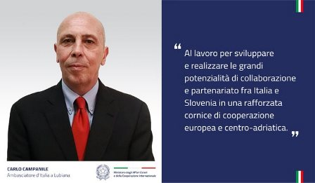 CARLO CAMPANILE NUOVO AMBASCIATORE A LUBIANA