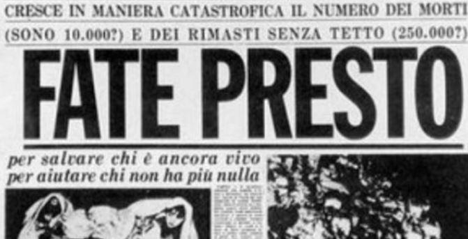"""UNGARO (IV) RICORDA IL TERREMOTO DELL'IRPINIA: """"TERRA DI ORIGINE DI TANTI ITALIANI ALL'ESTERO"""""""