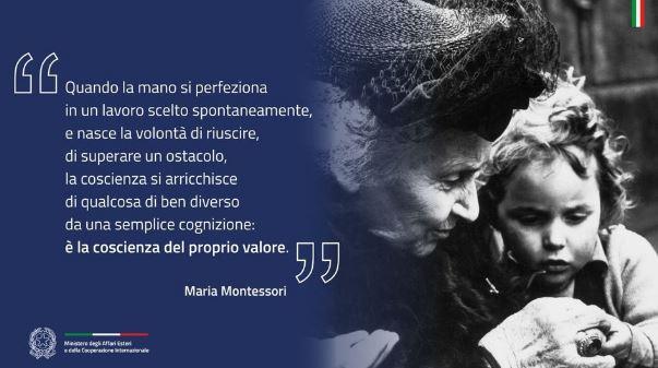 LA FARNESINA CELEBRA MARIA MONTESSORI