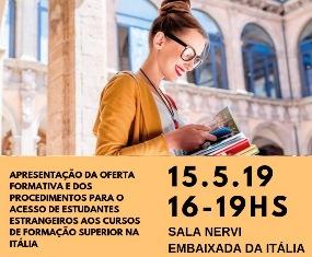 STUDIARE IN ITALIA: POMERIGGIO INFORMATIVO ALL'AMBASCIATA ITALIANA A BRASILIA