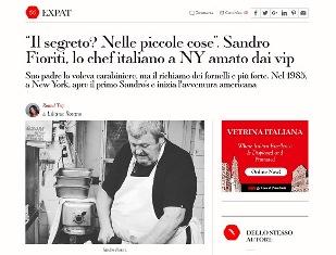 SANDRO FIORITI LO CHEF ITALIANO A NY AMATO DAI VIP – di Liliana Rosano