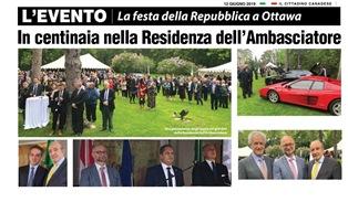 LA FESTA DELLA REPUBBLICA A OTTAWA – di Vittorio Giordano