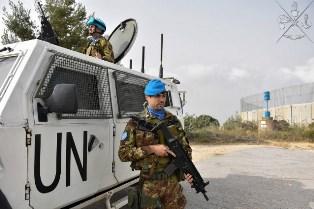 LIBANO: CASCHI BLU ITALIANI CONTROLLANO LA BLUE LINE