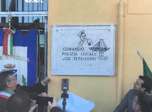 INTITOLATA A JOE PETROSINO LA NUOVA SEDE DELLA POLIZIA LOCALE DI PADULA