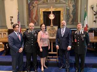 RECUPERATI NEGLI USA UNA LETTERA MANOSCRITTA DI SAN GIOVANNI BOSCO ED UN MOSAICO POLICROMO: LA RESTITUZIONE IN AMBASCIATA A ROMA