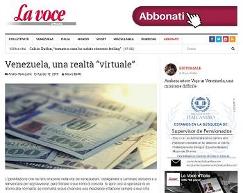 """VENEZUELA: UNA REALTÀ """"VIRTUALE"""" - di Mauro Bafile"""