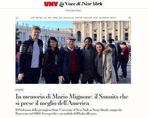 IN MEMORIA DI MARIO MIGNONE: IL SANNITA CHE SI PRESE IL MEGLIO DELL'AMERICA - di Luigi Troiani
