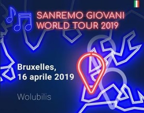SI CHIUDE A BRUXELLES IL SANREMO GIOVANI WORLD TOUR 2019