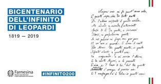 INIZIATIVE PER I 200 ANNI DELL'INFINITO DI LEOPARDI: FOCUS ALLA FARNESINA