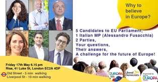 VERSO LE EUROPEE: CANDIDATI LIBERAL DEMOCRATS (UK) E DI PIÙ EUROPA (ITALIA) ALL'INCONTRO DI +EUROPA LONDRA